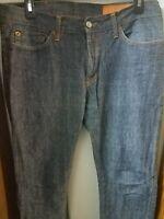 Jean Shop Men's Dark Wash Selvedge 100% Cotton Slim Fit Jeans Sz. 31 Made in USA