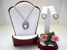 "Brighton ""ECSTATIC HEART PETITE"" Necklace-Earring Set (MSR$100) NWT/Pouch"