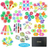 100Pcs Birthday Pinata Fillers Treasure Box Small Toys Set Party Gift Favors FT
