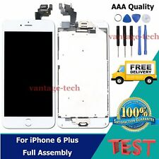 For iPhone 6 Plus LCD Display Touch Screen Digitizer Home Button Camera White UK