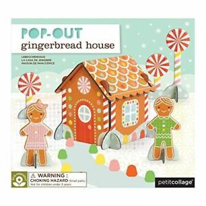 Petit Collage Pop-out Gingerbread House - Pop out 3D puzzle for children