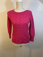 Ladies new hot pink wool blend Sweater Size Xs everyday pullover by Loft