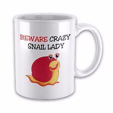 Beware Crazy SNAIL LADY Funny Novelty Gift Mug