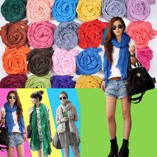 Womens Candy Color Soft Silk Chiffon Scarf Wrap Shawl Pashmina Long Scarves