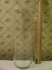 "Glass Candle Holder - Holds up to 3-1/4"" Dia Candle - 3-1/2"" Dia x 9"" Tall"