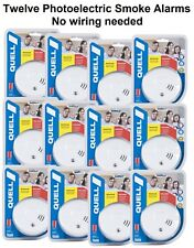 12 X Quell Photoelectric Smoke Alarms, 10Yr Warranty Bulk Buy & keep family safe