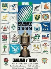 ENGLAND v TONGA 1999 RUGBY WORLD CUP PROGRAMME