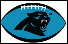 CAROLINA PANTHERS OVAL FOOTBALL NFL LICENSED TEAM LOGO INDOOR DECAL STICKER