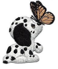 PUPPY w/BUTTERFLY ON NOSE - DOGS - PETS - ANIMALS/ Iron On Embroidered Applique