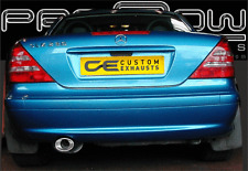 MERCEDES SLK STAINLESS STEEL CUSTOM BUILT EXHAUST BACK BOX & TAIL PIPES