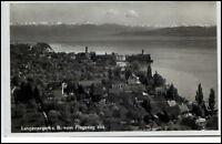 Langenargen Bodensee alte Postkarte 1937 gelaufen Teilansicht mit Bodensee