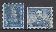 Germany Sc 686, 688 used 1951 & 1952 commemoratives, 2 complete sets, VF