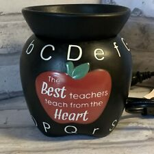Scentsy ABCs Warmer Black Apple Best Teachers Teach From The Heart