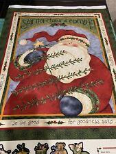 "Santas Coming By Nancy Halvorsen Advent Quilt Panel 23""x41"""