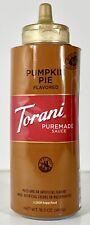 Torani Puremade Sauce PUMPKIN PIE Flavored 16.5 oz Mochas Milkshakes Ice Cream