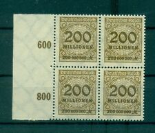 "GERMANIA - GERMANY DEUTSCHES REICH 1923 Mi. 323 A b ""200 Millionen"" block"