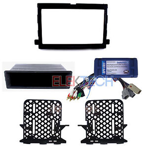 Radio Replacement Interface & Dash Mount Kit Single/Double-DIN for Ford/Mercury