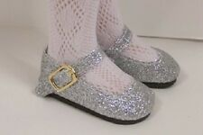 "Silver Glitter Doll Shoes For 16"" Kish Season Spring Summer Winter Fall (Debs)"