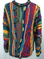 VTG 90s Tundra Canada Sweater Hip Hop 3D Baggy Textured Cosby Biggie Mens XLT