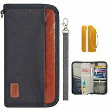 Passport Holder Travel Passport Black Wallet Organizer RFID Blocking Waterproof