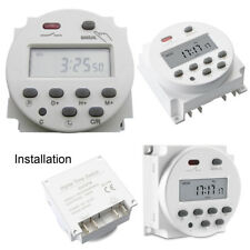 CN101 Digital LCD Power Programmable Timer Counter Time Relay Switch DC 12V 16A