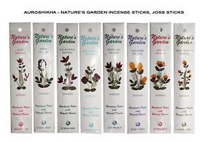 AUROSHIKHA Agarbathies 100% Organic Nature's Garden Incense Sticks, Joss Sticks
