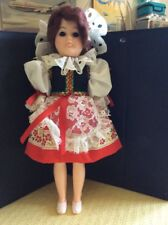 "Doll 11"" Open & Close Blue Eyes & Brown Hair Vintage"