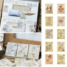New listing 46Pcs/box Mini Stamp Paper Diy Diary Scrapbooking Stickers Stationery Q~