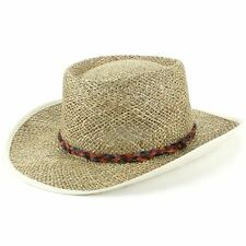 Hat Panama Straw Fedora Trilby Cap Sun Travel Brim Wide Mens Ladies Seagrass f6f0fac8a7b6