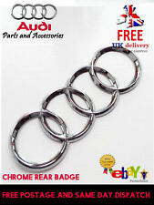 AUDI TT REAR CHROME RINGS BADGE TT LETTERS  BOOT Mk2