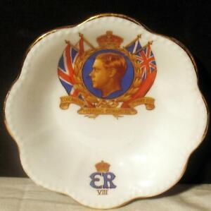 Vintage King Edward VIII 1937 Coronation Pin Dish England Tuscan Fine Bone China