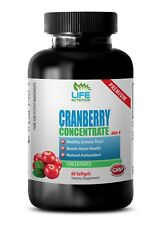Supports Mental Focus Softgels - Cranberry Extract 50:1 - Cranberry Urinary 1B