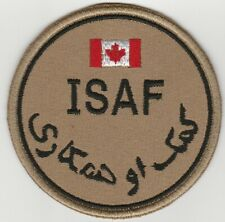 ISAF. AFGHANISTAN. NATO forces CANADA patch DESERT 'N' VLCRO