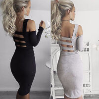 Sexy Women Bandage Bodycon Summer Long Sleeve Evening Cocktail Party Mini Dress