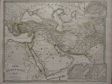 1850 SPRUNER ANTIQUE HISTORICAL MAP ~ WORLD ALEXANDER THE GREAT GRANICO FIGHTING