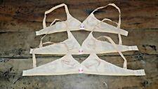 """lot de 3 soutien gorge neuf année 60/70 lingerie """"teenform"""" bra full cup bh 905+"""