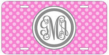 Personalized Monogrammed Polka Dot Purple License Plate Custom Car Tag L477