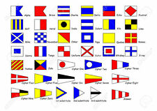 Signal Flags, Complete set of 40 with Organising Pouch for Boat Yacht Motorboat