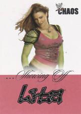LITA 2004 Fleer WWE DIVAS SHOWING OFF Insert Card  #1SO