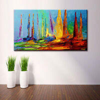 ENOPT313 abstract sail boat seascape art hand-painted oil painting on  canvas
