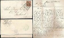 PENNY RED 1856 SCOTLAND MADELEINE SMITH EXPERIMENTAL...ENTIRE LETTER