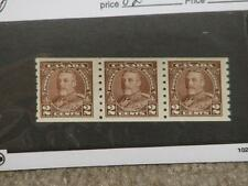 Canada Coil Strip of 3 VF, Scott# 230, MNH