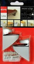 Pair Wall Mounted Shelf Brackets Glass / Wood Shelves 5 - 25mm Adjustable SILVER