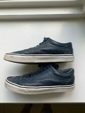 Vans Old Skool Navy Blue Leather Shoes size 11 Used Good Condition!