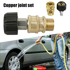 M22 Quick Release Connector to 3/8 Adapter Pressure Washer Coupling 14mm Fitting
