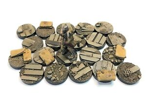 25mm War Zone Trench, resin bases, Sci-fi fantasy DKK Qty10-50 unpainted