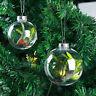 Fj- Kf _ Plastica Trasparente Sfera Bagattelle Albero di Natale da Ornamento Fai