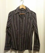 Eddie Bauer Stretch Wrinkle Resistant Shirt, Multi-color, Striped, M, Pre-owned