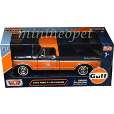 MOTORMAX 79652 1979 FORD F-150 PICK UP TRUCK 1/24 GULF OIL DARK BLUE / ORANGE