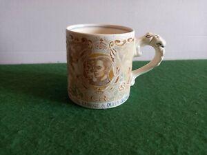 George VI Coronation Tankard/ Mug By Dame Laura Knight.  Faded.